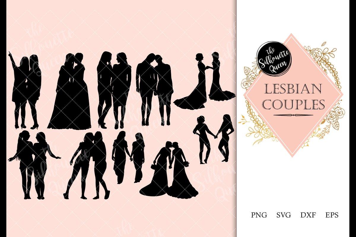 Lesbian Couple svg file, homosexual