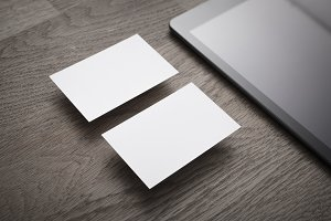 Empty Business cards mockup