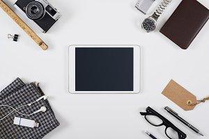 Hero header tablet pc mockup