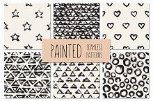 Painted Seamless Patterns Set 1
