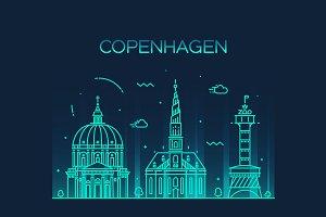Copenhhagen skyline (Denmark)