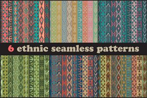 Six seamless ethnic patterns