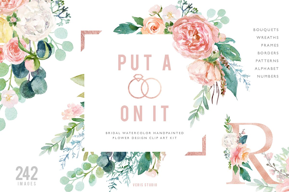 Put A Ring On It - Alphabet Floral