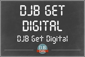 DJB Get Digital Font