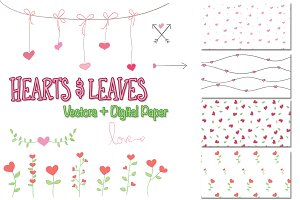Hearts and Leaves Set