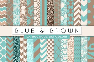 Blue & Brown Digital Papers