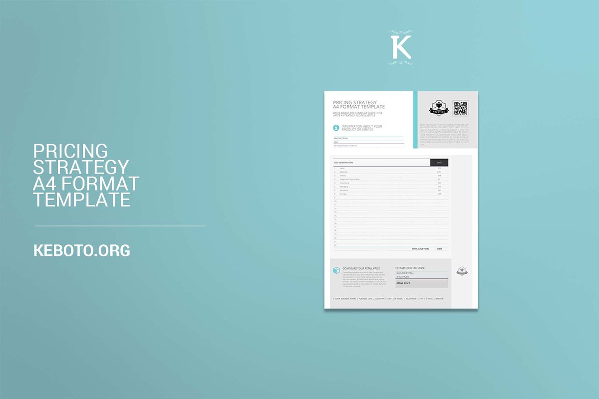 Pricing Strategy A4 Format in Templates