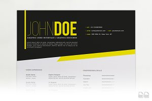 DarkLight Resume A4