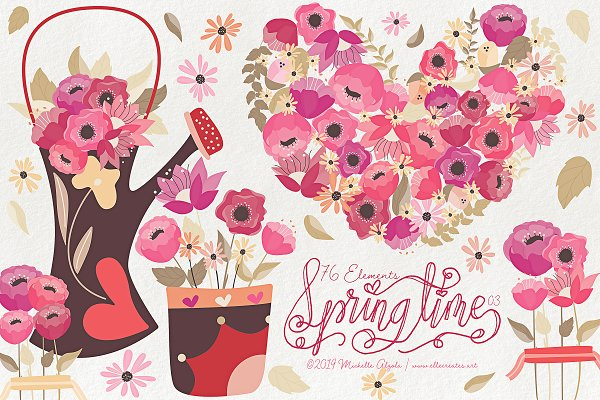 Springtime 03 - Red and Pink Vector