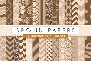Brown Paper Digital Papers