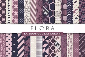 Flora Patterned Digital Papers