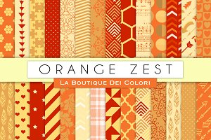 Orange Zest Digital Papers