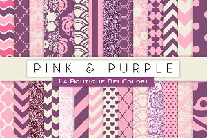 Pink & Purple Digtal Papers