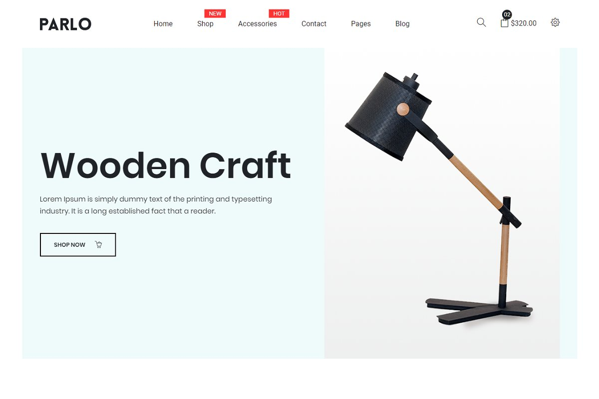 Parlo – eCommerce Bootstrap Template