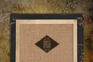 Vintage Style Paper Frame Mockup