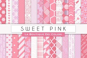 Sweet Pink Digital Papers