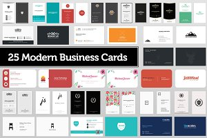 25 Modern Business Cards