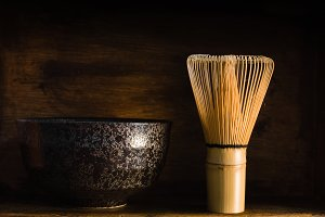 Japanese Matcha Tea Whisk and Bowl