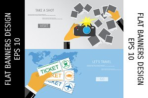 Travel vector banners.