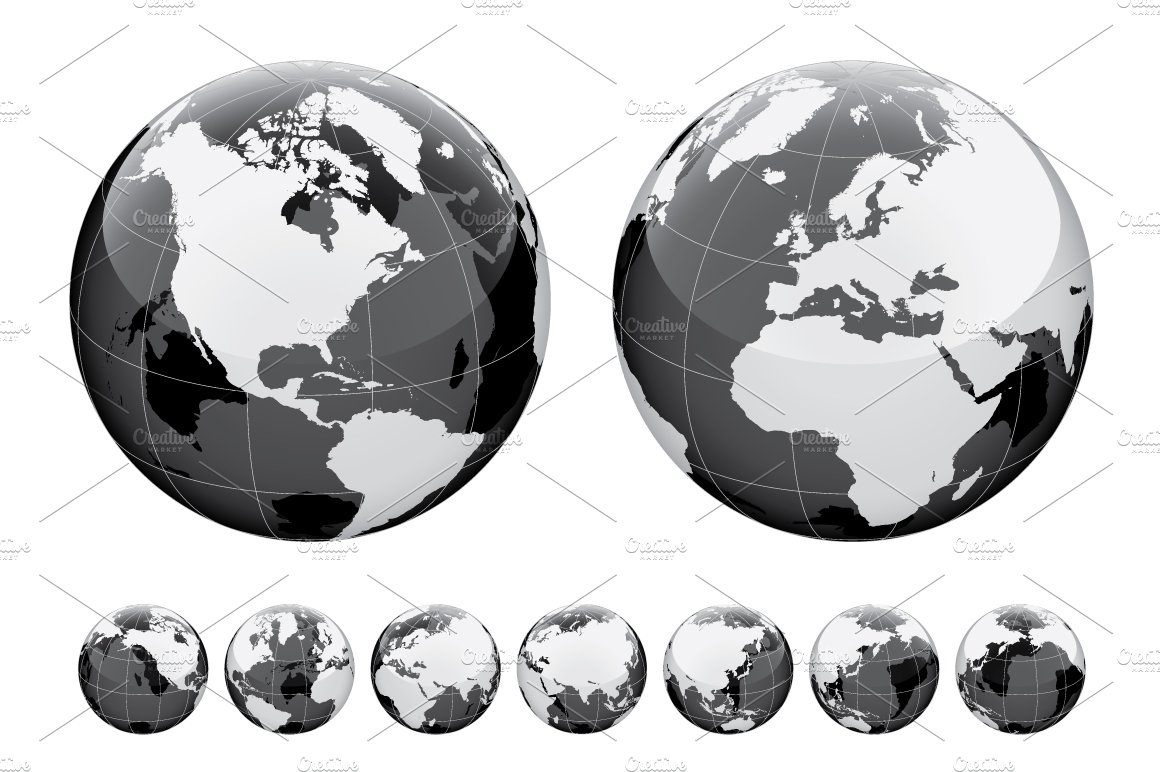 Globe and world map illustrations creative market gumiabroncs Gallery