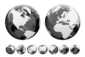 Globe and World map