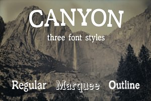 Canyon - Font in Three Styles