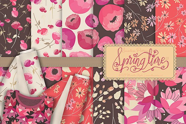 Springtime 03 - Seamless Patterns