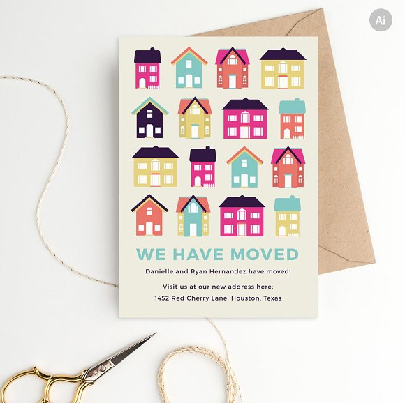 moving announcement template stationery templates creative market
