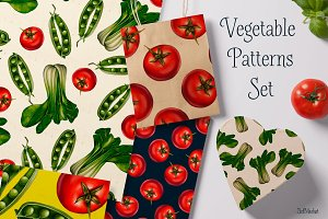 Vegetable Patterns Set