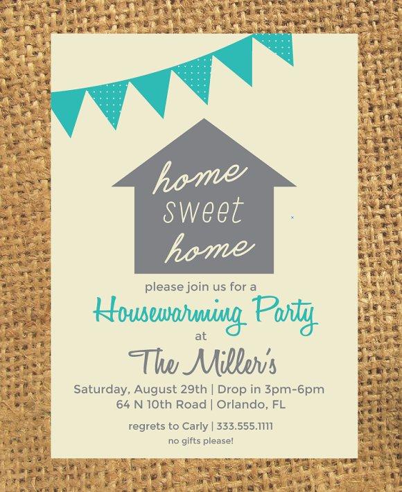 Housewarming Invitation Templates Creative Market