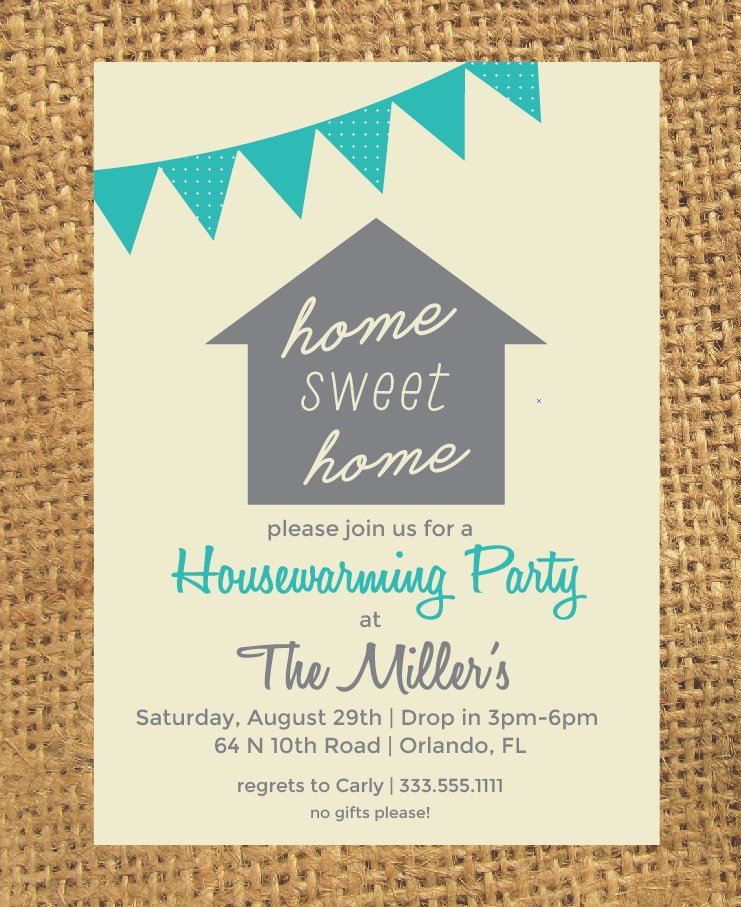 Housewarming Invitation Invitation Templates Creative Market - Gift registry card template free