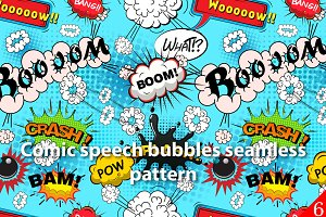 Seamless pattern comic speech bubble