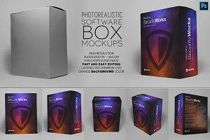 Software or Product Box Mockups