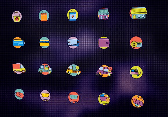 40 Amazing eCommerce flat icons in Graphics - product preview 2