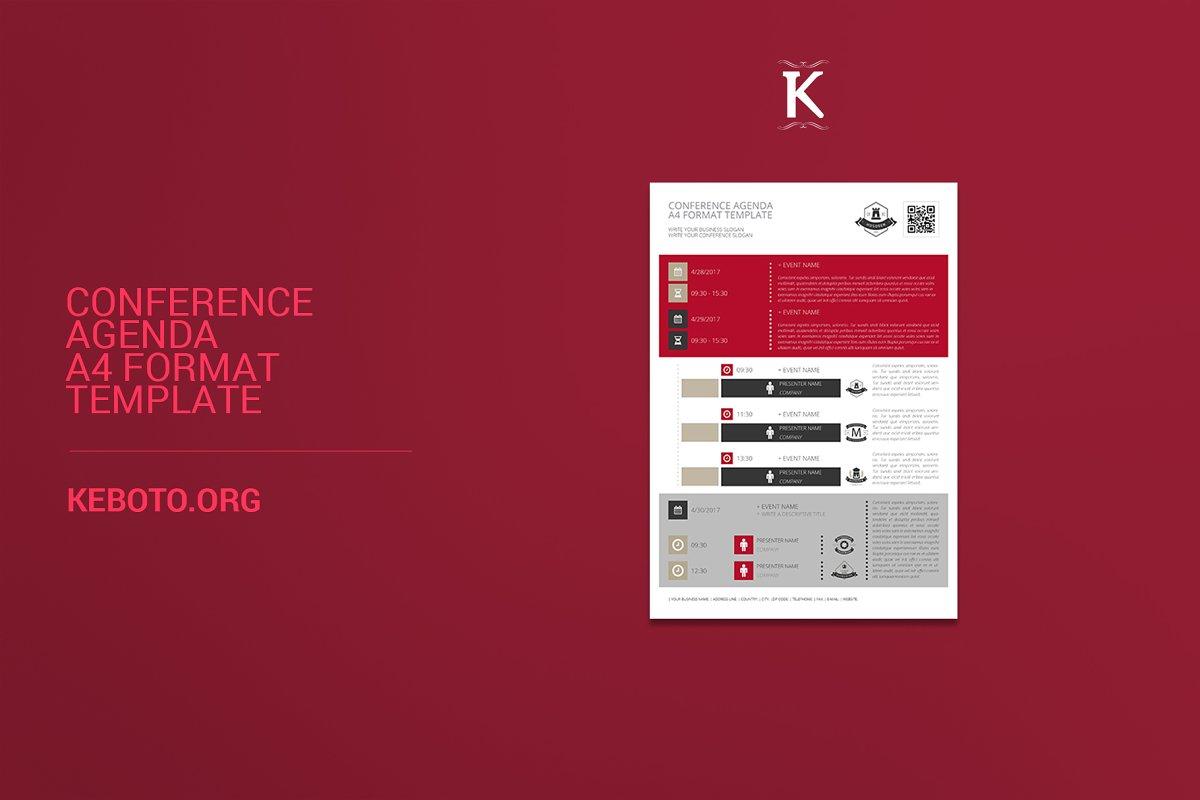 Conference Agenda A4 Format