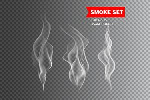 Isolated realistic cigarette smoke
