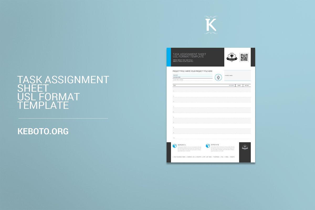 Task Assignment Sheet USL