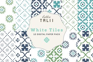 White Tiles Digital Paper