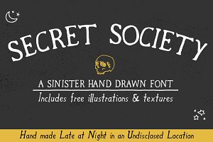 Secret Society Font + Bonus