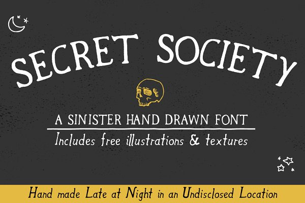 Secret Society Font + Bonus