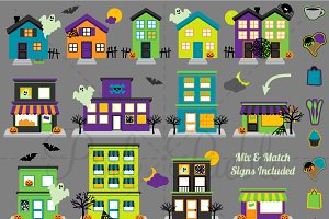 Halloween Town with Mix Match Signs