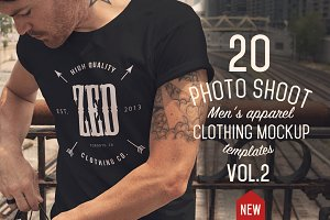 20 Mens apparel Mockups VOL.2