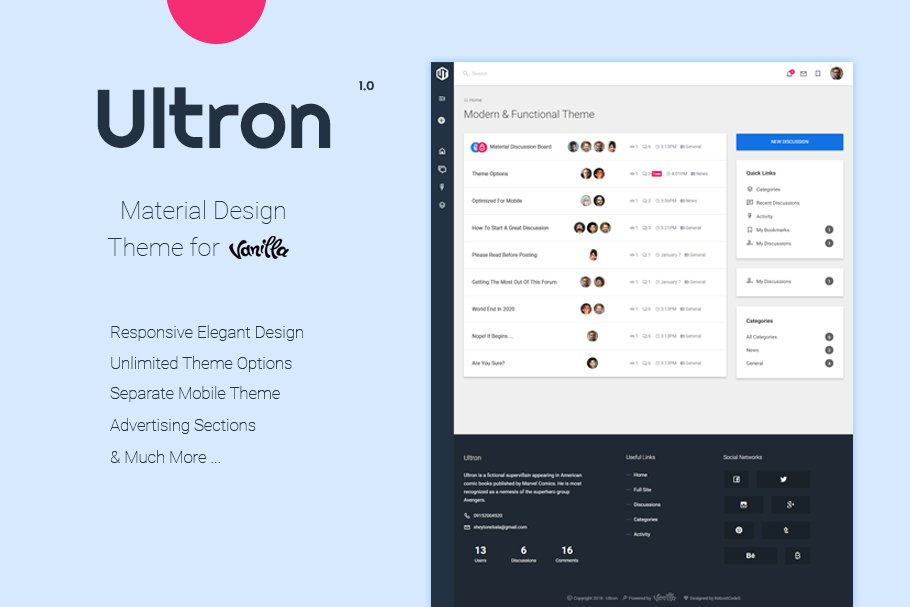 Ultron | Customizable Vanilla Theme