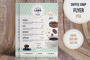 Flyer Retro CoffeeShop