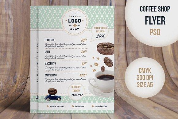 Flyer Retro CoffeeShop