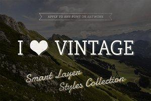 I ♥ Vintage — Smart Text Styles