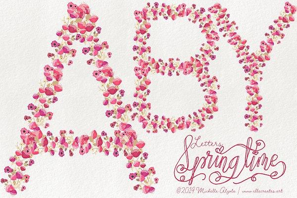 Springtime 03 Floral LETTERS