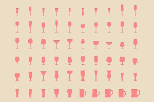 Glass vector icons