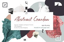 Abstract garden. Modern collage set. by  in Objects