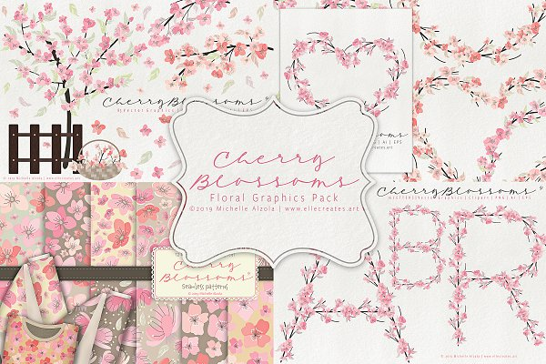 Cherry Blossoms 04 - Graphics Pack